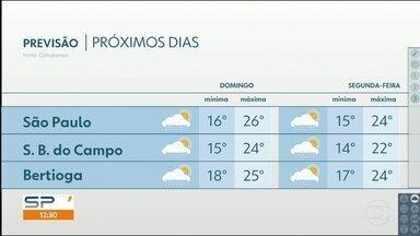 Agosto termina com Sol e calor e setembro pode começar com chuva e queda nas temperaturas - Frente fria vem para São Paulo com previsão de pancadas de chuva em quase todo o estado, no domingo.