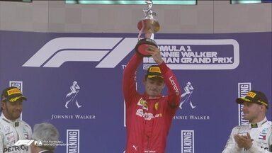 Leclerc vence o GP da Bélgica e dedica vitória a Anthoine Hubert - Leclerc vence o GP da Bélgica e dedica vitória a Anthoine Hubert