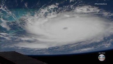 EUA entram em alerta por causa do furacão Dorian - Os Estados Unidos estão em alerta por causa do furacão Dorian, que já é o maior do Atlântico em 85 anos.