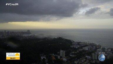 Previsão do tempo: segunda-feira amanhece com chuva em Salvador - Veja também as informações de Barreiras, Vitória da Conquista, Itabuna e Juazeiro.