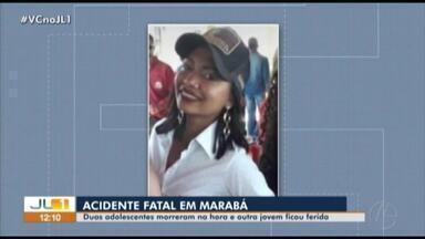 Duas adolescentes morrem e outra fica ferida em acidente em Marabá - Duas adolescentes morrem e outra fica ferida em acidente em Marabá
