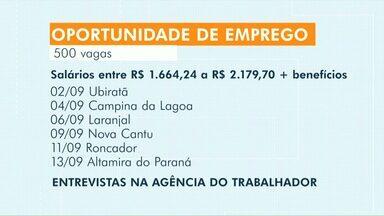 Frigorífico de Ubiratã abre mais de 500 vagas - Confira também as vagas de emprego na Agência do Trabalhador de Cascavel.