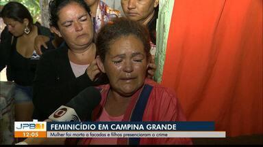 Homem é preso suspeito de matar ex-esposa a facadas, em Campina Grande - Um outro caso de feminicídio foi registrado na cidade de Itabaiana.