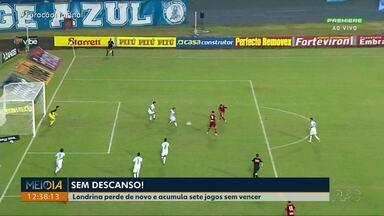 Londrina perde de novo e acumula sete jogos sem vencer - O tubarão perdeu no sábado por 1 x 0 para o CRB em pleno Estádio do Café.