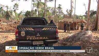 Operação 'Verde Brasil': Exército faz balanço sobre operação de queimadas no PA - Comando do Conjunto Norte decidiu se concentrar na região de Novo Progresso.