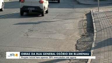 Prefeitura de Blumenau garante retomada de obras na Rua General Osório ainda nesta semana - Prefeitura de Blumenau garante retomada de obras na Rua General Osório ainda nesta semana