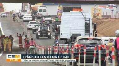 Obra em viaduto no anel viário confunde motoristas - Confira mais notícias em g1.globo.com/ce