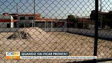 Moradores pedem a conclusão da Areninha do Conjunto Ceará - Confira mais notícias em g1.globo.com/ce