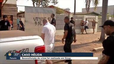 Reconstituição de assassinato de mulher é feita em Sinop - Reconstituição de assassinato de mulher é feita em Sinop