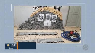 Quase 300 kg de drogas estavam em fazenda de Nova Bandeirantes - Quase 300 kg de drogas estavam em fazenda de Nova Bandeirantes