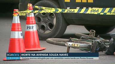 Ciclista morre atingido por um caminhão na Souza Naves, em Ponta Grossa - Neste ano já são 31 acidentes e sete mortes nesse trecho urbano da BR-373.