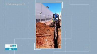 Muro subterrâneo é construído em presídio de Palmas para evitar fugas - Muro subterrâneo é construído em presídio de Palmas para evitar fugas