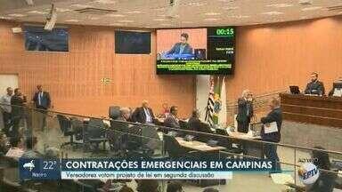 Vereadores de Campinas votam PL que permite contratações emergenciais na Rede Mário Gatti - Segundo a Prefeitura, objetivo do Projeto de Lei é contratar 600 médicos e outros profissionais da saúde.