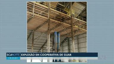 Elevador explode em cooperativa de Guarapuava - Dois funcionários ficaram feridos com o acidente.