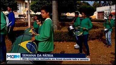 Ações cívicas são realizadas em Araxá para celebrar Dia da Independência do Brasil - Semana contará com diversas atividades para celebrar a data. No sábado (7) terá desfile na Avenida Getúlio Vargas.