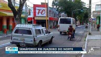 Juazeiro do Norte ganha novos semáforos - Confira mais notícias em g1.globo.com/ce
