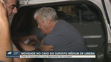 Médium acusado de abuso sexual em Limeira tem prisão prorrogada - Novos depoimentos devem ocorrer para auxiliar investigação de médium acusado de abuso sexual.