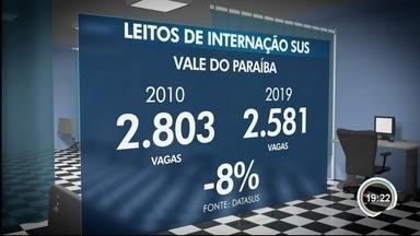Número de leitos hospitalares vem caindo nos últimos dez anos na região - Vagas de internação pelo SUS diminuíram.