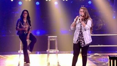 """Larissa Mendes e Luana Berti cantam """"Onde Anda Você / Soneto De Fidelidade"""" - Luana vence batalha e Larissa vai para o time Lulu"""