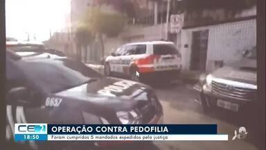 Operação contra pedofilia cumpre mandados no Ceará - Confira mais notícias em g1.globo.com/ce