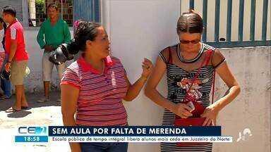 Sem aula por falta de merenda escolar em Juazeiro do Norte - Confira mais notícias em g1.globo.com/ce