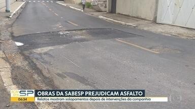 Sabesp justifica buracos após obras nas vias de São Paulo - Direção da empresa mostra processo de fechamento das obras.