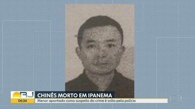Polícia diz que menor não tem envolvimento com morte de chinês - Ele foi apreendido ontem de manhã e liberado à noite.