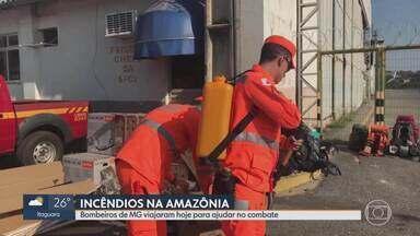 Bombeiro mineiro que atuou em Brumadinho segue para combater incêndios na Amazônia Legal - Major Ivan Neto disse que atuação do Corpo de Bombeiros de Minas no Sudoeste do Pará é uma forma de retribuir toda a ajuda que tiveram na Operação Brumadinho, após rompimento de barragem da Vale, e também tem o dever de preservar a Amazônia.