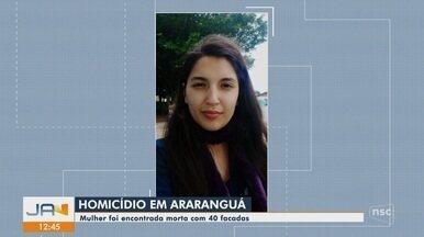 Mulher é encontrada morta com marcas de facadas em Araranguá - Mulher é encontrada morta com marcas de facadas em Araranguá