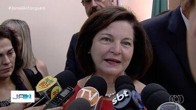 Raquel Dodge avalia, em Goiânia, o seu trabalho à frente da procuradora-geral da República - Ela veio assinar um termo para que Goiás também possa usar o Formulário de Risco aos Casos de Violência contra a Mulher (Frida) e fez uma palestra no Ministério Público Estadual.