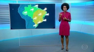 Veja como fica o tempo no sábado (7) - Maju faz a previsão e se despede do Mapa do Tempo.