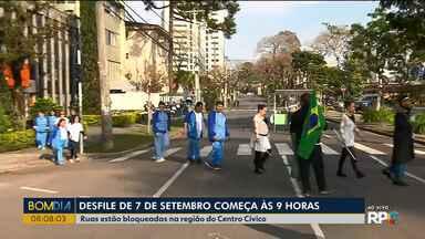 Desfile de 7 de setembro começa às 9h em Curitiba - Várias ruas próximas ao Centro Cívico vão ter bloqueios