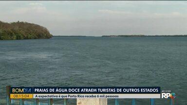 Praias de água doce atraem turistas pro noroeste - 6 mil pessoas são esperadas em Porto Rico, na divisa com o Mato Grosso do Sul