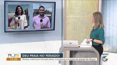 Turistas escolhem litoral e serra para curtir o feriado no Sul do Rio - Tempo aberto do feriado e previsão de tempo firme animara visitantes para aproveitar o fim de semana na região.