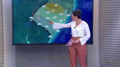 Chuva e risco de temporais continuam em todo o RS neste sábado (7) - Temperaturas aumentam e sensação de abafamento predomina na maioria das regiões.