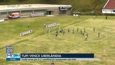 Tupi vence Uberlândia no jogo de ida da semifinal do Mineiro sub-20 - Galinho venceu por 3 a 1 e pode até perder por um gol de diferença no sábado, no Parque do Sabiá