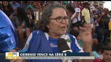 Oeirense vende o Comercial e assume vice-liderança da Série B do Piauiense - Oeirense vende o Comercial e assume vice-liderança da Série B do Piauiense