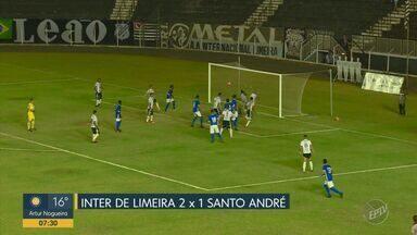 Inter de Limeira se reabilita e segue na briga pela classificação - Time venceu por 2 a 1 o Santo André no jogo do última sábado (7).