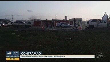 Motorista é preso após dirigir na contramão e causar acidente em Ribeirão Preto - Quatro veículos se envolveram na colisão na Rodovia Anhanguera (SP-330).