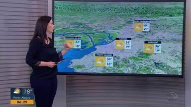 Região Sul do RS tem risco de temporal com raios e granizo nesta segunda-feira (09) - Outras regiões do estado terão temperaturas em torno de 30ºC.