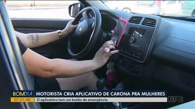 Motorista cria aplicativo de carona para mulheres - O aplicativo tem um botão de emergência.