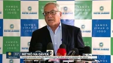 Estado promete solução definitiva em 30 dias para canteiro de obras do metrô da Gávea - Na manhã desta segunda-feira (9), o governador Wilson Witzel se reuniu, no Palácio Guanabara, com a frente parlamentar em defesa da Linha 4 do metrô.