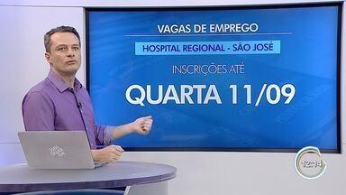 Começa processo seletivo do Hospital Regional em São José - São 13 vagas.
