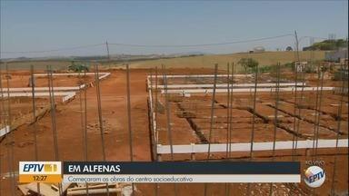 Obras de construção de centro socioeducativo começam em Alfenas - Obras de construção de centro socioeducativo começam em Alfenas