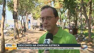 Elektro realiza recadastramento de agricultores para desconto em Rio Claro e região - Tarifa subsidiada na conta de energia é válida para ano que vem.