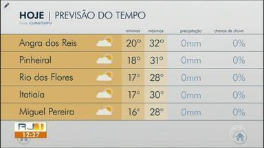 Semana começa com sol e tempo firme no Sul do Rio de Janeiro - Meteorologia prevê dia sem chuva na região.