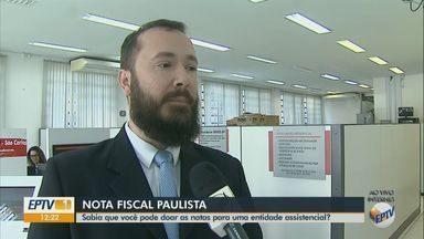 Nota fiscal paulista sem CPF pode ser doada para entidades assistenciais em São Carlos - Contribuinte poderá escolher para quem será destinada a doação.