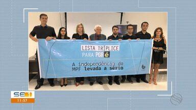 Procuradores da República em Sergipe protestam contra indicação de Augusto Aras à PGR - Procuradores da República em Sergipe protestam contra indicação de Augusto Aras à PGR