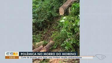Corte de árvores para fazer uma tirolesa no Morro do Moreno revolta ambientalistas - Área é de preservação ambiental.