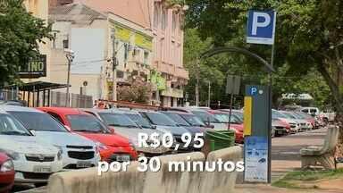 Parquímetro tem valor reajustado em Santa Maria - Na prática são 5 centavos a mais a cada meia hora de estacionamento.